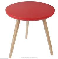 red round wood coffee table