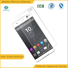 2016 Competitive Factory Producing 2.5D Mobile Phone Tempered Glass Film Waterproof Screen Protector For Sony Xperia C5