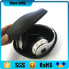 black pu leather cover waterproof eva hard headphone case
