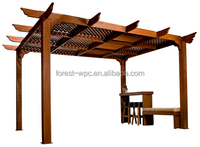 Elegance Ecological Composite Wood Pergolas/Gazebos,the perfect Combination for Beauty and Durability