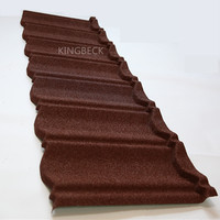 Colorful sand coated metal roof tiles/ Stone chip steel roofing tiles
