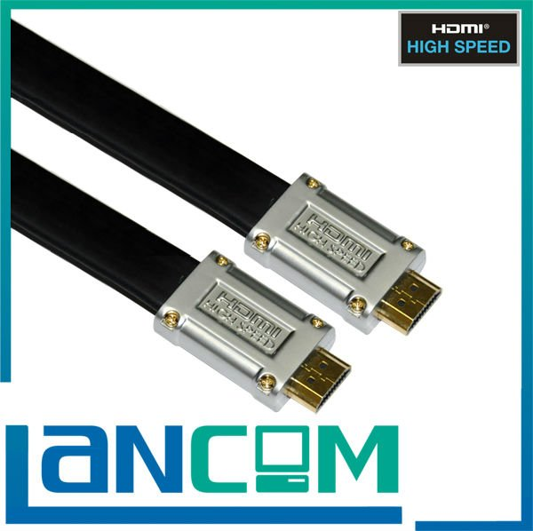 HDMI 2.0 AM TO AM Flat Cable ,Metal Plug, Support 4K*2K,3D, BluerRay, suitable for new 4K TV.