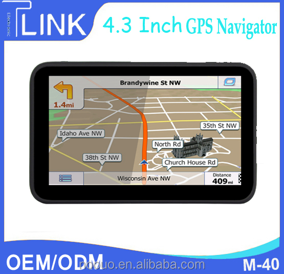 "Portable GPS 4.3"" Bluetooth Car GPS Built in 4G radio, BT, Touch Screen GPS Navi"