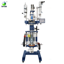 CE & ISO certified Laboratory Reactor chemical Double Layer Cylindrical Glass Packed Bed Reactor price 1l-100l