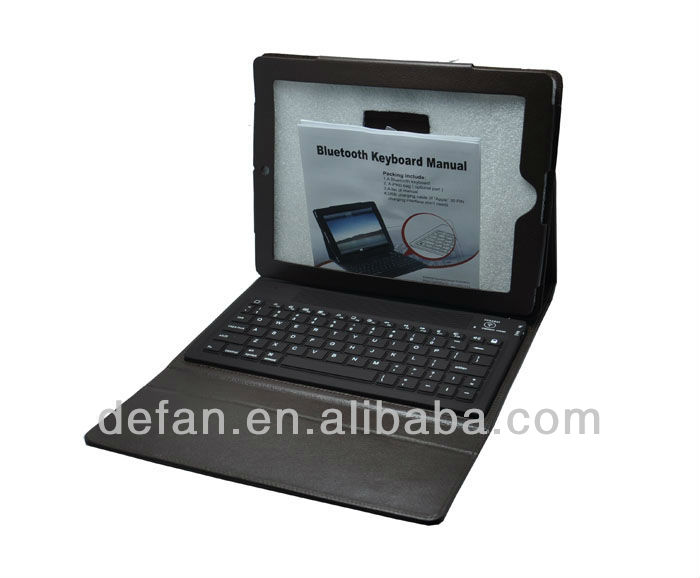Super Slim Bluetooth Keyboard With Case Colorful for Ipad 2, 3, 4