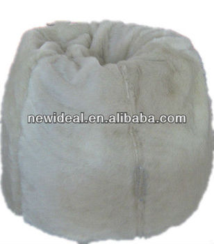Pear shape soft faux fur bean bag NW1986