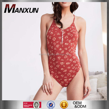 Dongguan Manxun Clothing Manufacturer Sexy V Neck Fashion Tops And Wholesale Women Bodysuits