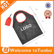 Good quality foldable bag textile shopping bag polyester folding shopping bag