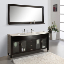 Antique Style Double Sink Low Price Bathroom Vanity