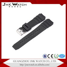 Fashion pattern cheap price black silicone watch strap custom printed watch strap for watch