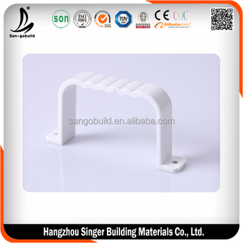 2015 new design gutter bracket, high quality plastic gutter prices
