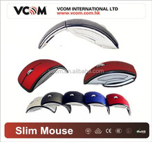 VCOM Top Selling 2.4G Optical Wireless Foldable Mouse with Factory Price