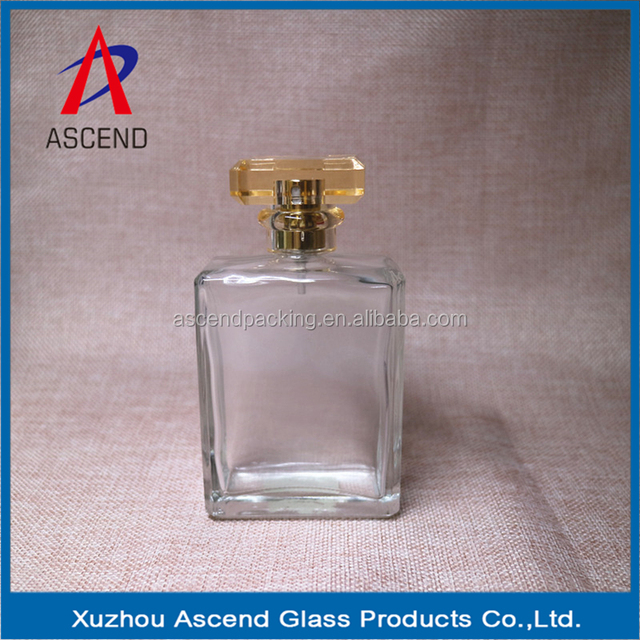 Hot Sale 100ml high quality Brand Square Perfume Glass Bottle sarin cap China manufacturer