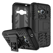Hybrid Shockproof Kick Stand PC TPU Dazzle Phone Case Cover Case For Samsung Galaxy J1 Mini Prime