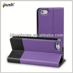 2014 new design protetive pu leather case for iphone5