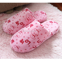 Coral fleece thickening indoor and outdoor home slippers cotton slippers
