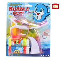 Latest flashing wholesale bubble gun with light and music