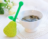 Free Shipping Strawberry Pear Shaped Tea Infuser Strainer Loose Tea Leaf Spice