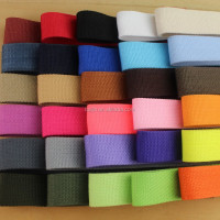 3.8cm Colorfull Polyester Webbing for belt for Bags Garment Home Textile Shoes