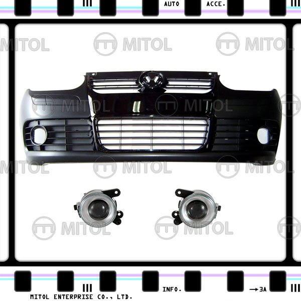 For VW Golf IV Front Bumper (R32 Look) Black Mld w/ Fog Car Body Kits