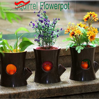 New idea squirrel inner small plastic flower pots