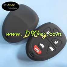 New 5+1 button silicone key cover key fob for gm car key silicone case
