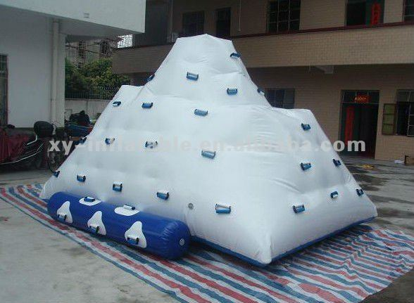 inflatable water rock climbing wall