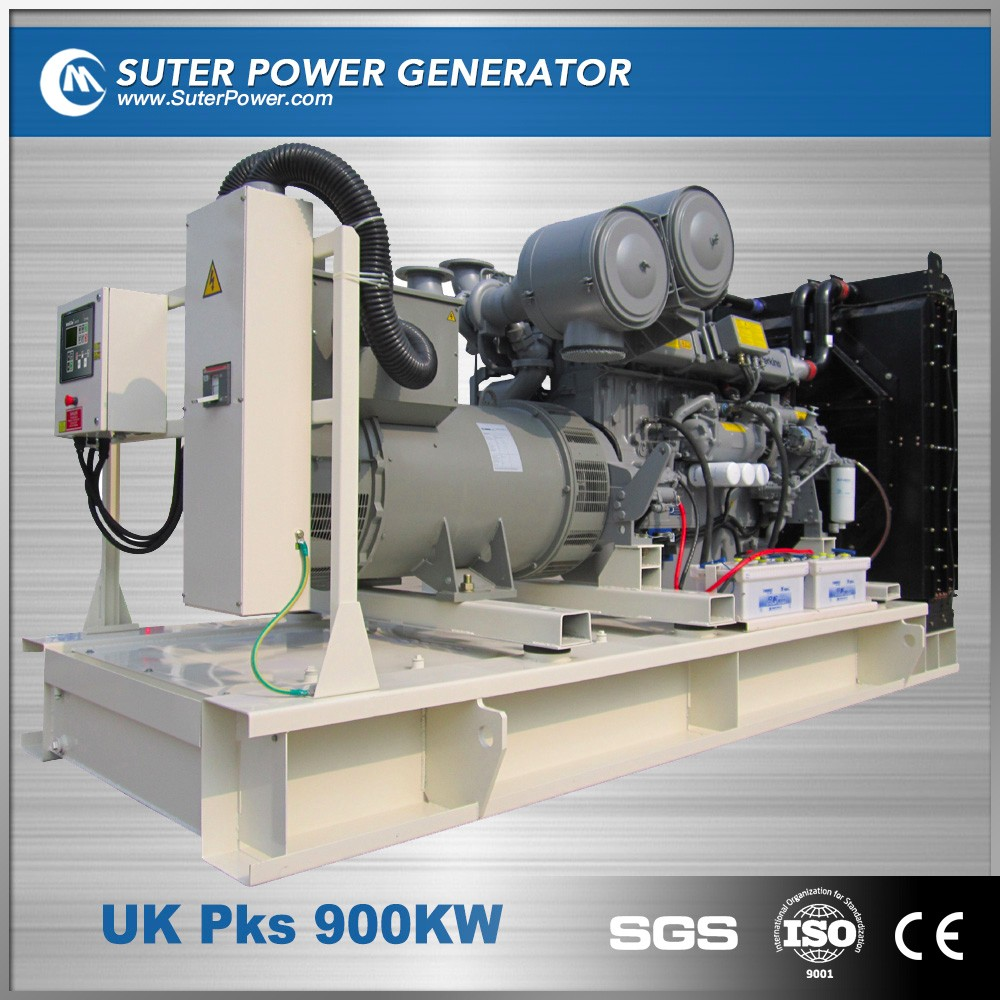Water cooled 900kw industrial electric diesel engine by uk generator 50hZ