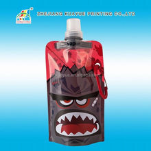 Customized Best Selling Collapsible Water Bottle,Bottle Water,Water Bottle Drink Spout Pouch