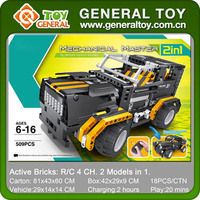 2 In 1 4CH 509PCS Self Assemble Toys Truck Plastic Building Blocks Toys RC Truck