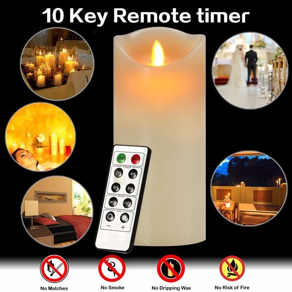 2016 battery operated led light candle lights with remote control