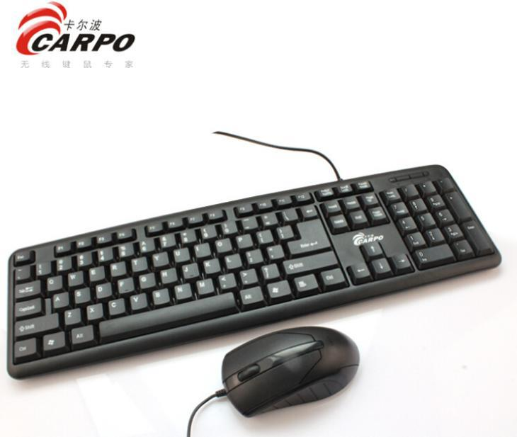 F11003 CARPO T500 Wired Combo USB Interface Optical Mouse + 104 Keys Gaming Keyboard for Desktop Computer PC + FreePost