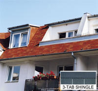 [Factory direct roofing shingle] 3-tab roofing shingle,roof tile shingles with high quality