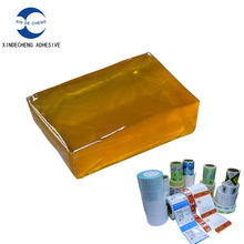 Hot melt pressure sensitive adhesive for labels