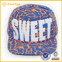 Promotion High Quality Custom Made plain strap full snap back hats