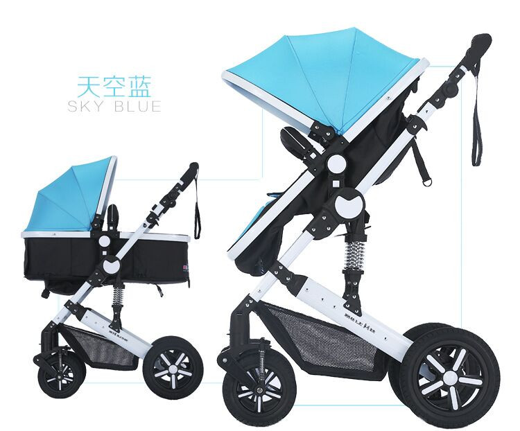 2018 baby stroller , Most Popular Multi-function foldable carrier , High View Luxury Stroller