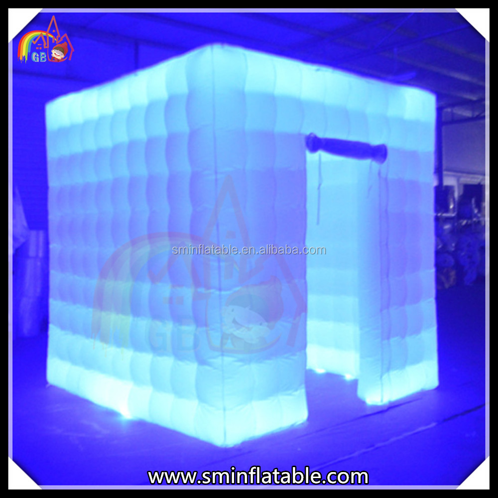 Oxford Cloth Material Inflatable Square Light Photo Booth Cube Tent For Trade Show