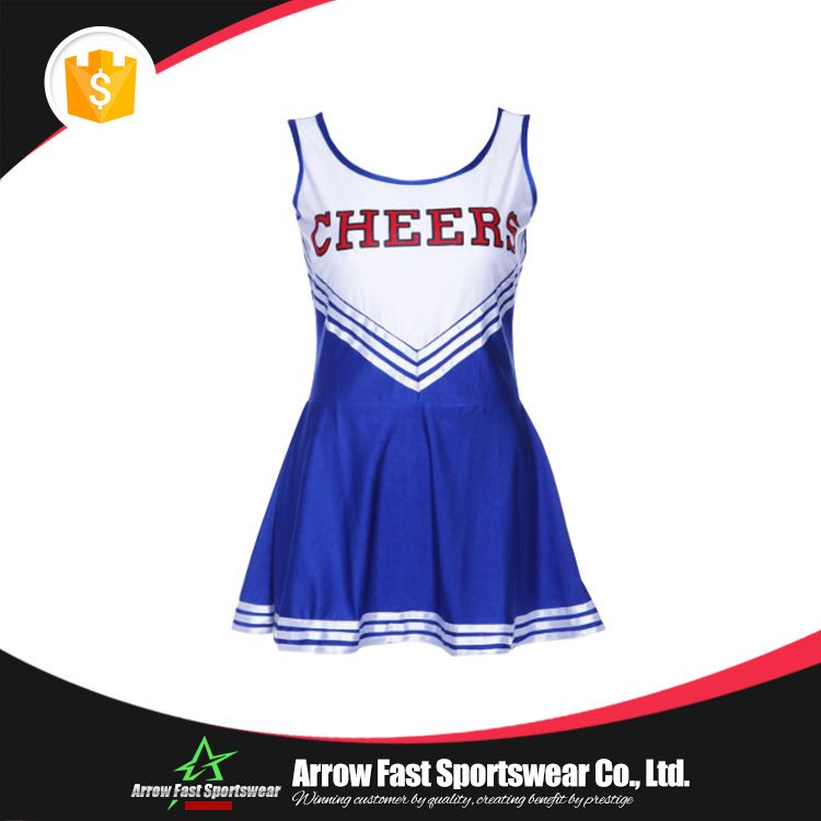 Breathable stylish cheerleading dresses apparel