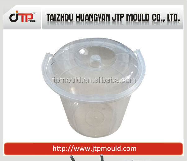 Taizhou hot selling plastic water bucket mould with cover