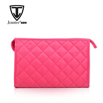 Hot sales custom travel makeup bag blank wholesale colorful quilted cosmetic bag