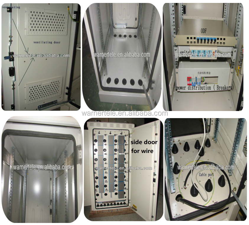 W-TEL MSAN OLT outdoor telecom industrial equipment control electronic cabinet IP66 with air conditioner cooling