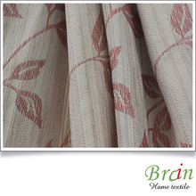 Top quality 100% polyester leaf jacquard fabric for window curtain fabric