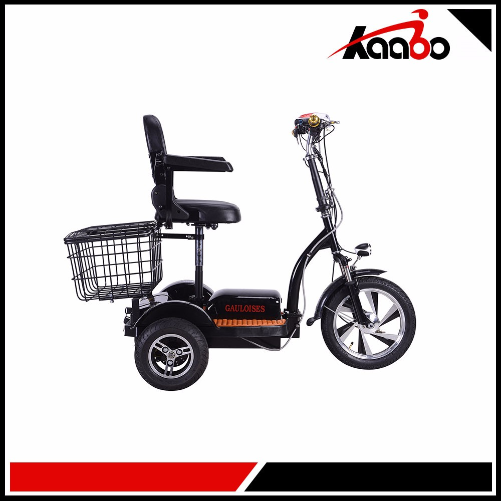 Retro 3-Wheel Scooter 48V Battery-Powered Ride-On With Basket