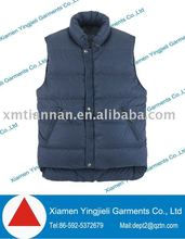 Men's black down garment vest 2013