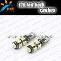 Car canbus error free AC12V T10 W5W 9SMD 5050 l68 194 led lights interior tail width lights