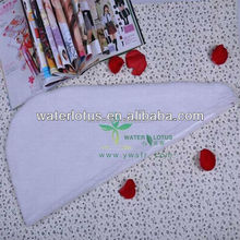 plain microfiber dry hair wrap-ivory white wholesale daily use commodity made in China
