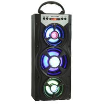 Eonec MS - 220BT <strong>Portable</strong> 4'' Bluetooth Hi-Fi Bass Speaker FM Radio AUX with Colorful LED Light LCD Screen LED Shinning