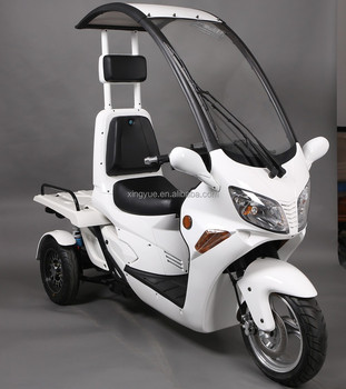 three wheel electric tricycle roof scooter for delivery with tilting mechanism