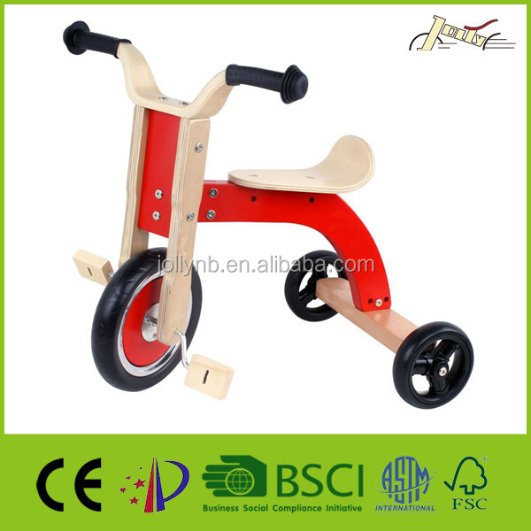 Smart Baby Wood Tricycle for Walking Education and Training