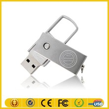 8GB rotatable metal usb thumb drive with free package